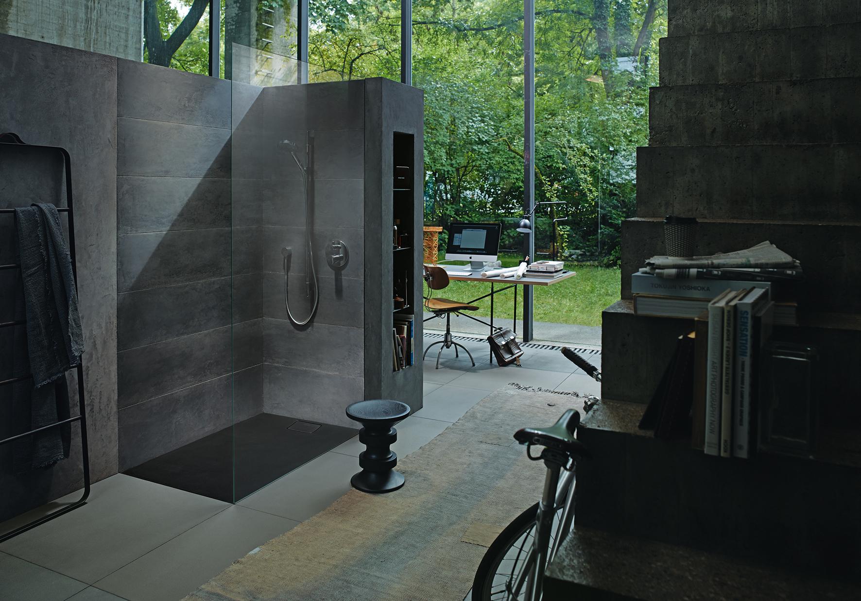 Badkamer inspiratie grijs: wandtegels badkamer grijs in the mood ...