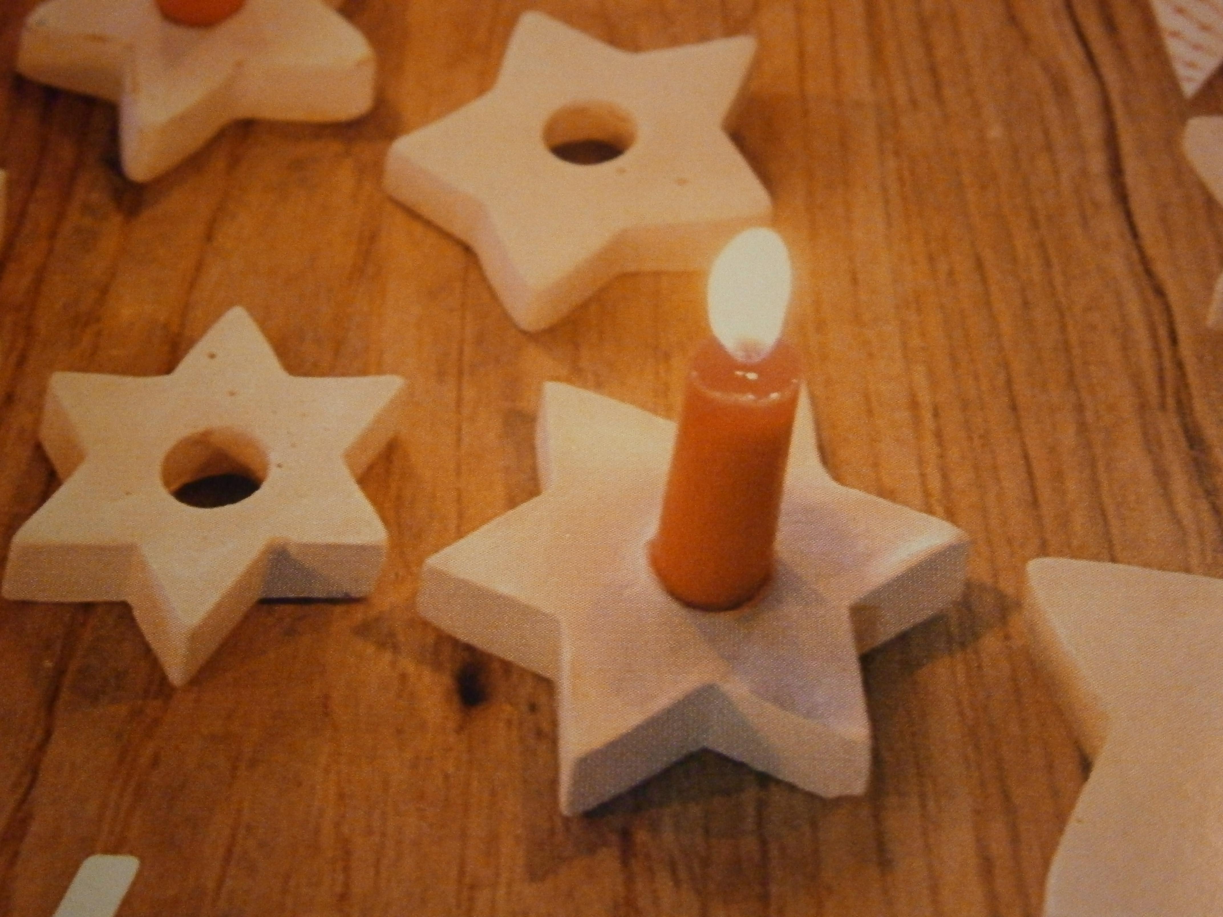 kerststerren van klei
