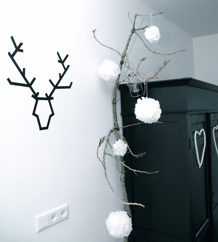 kerstdecoratie zwart wit