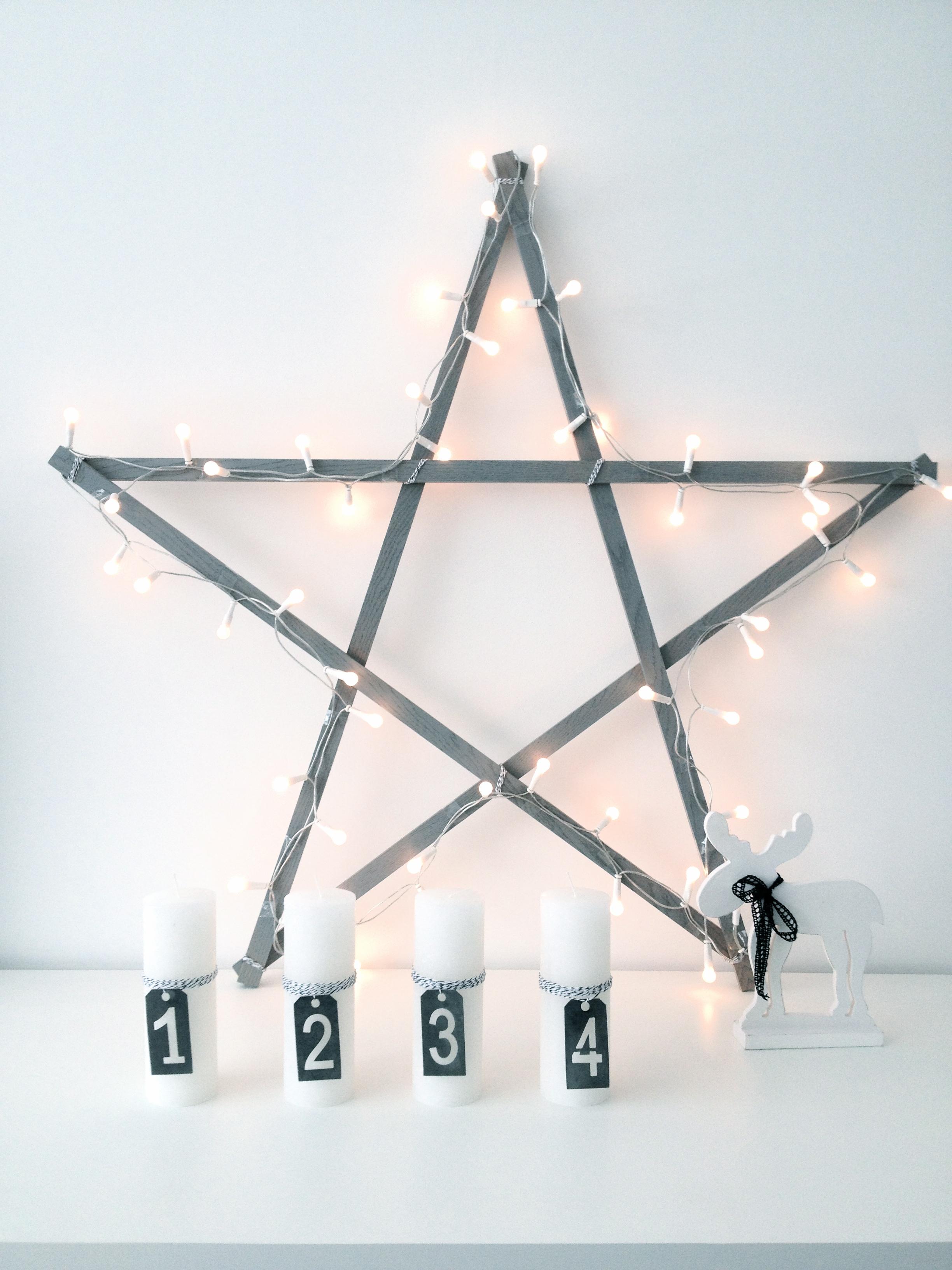 ster van hout kerstster