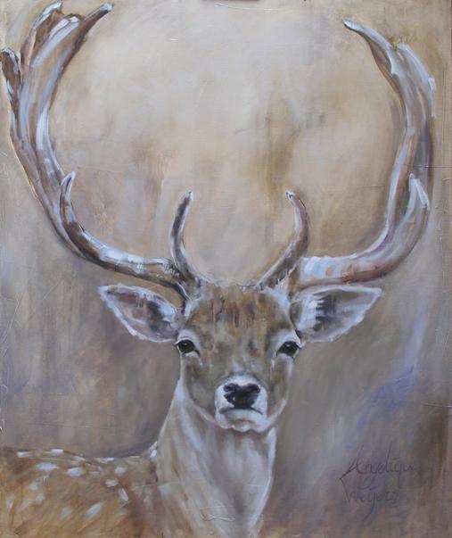 angelique weijers schilderij met hert