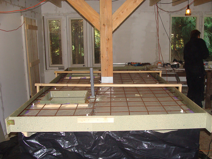 Esther over hun zelfgemaakte betonnen blad in de keuken inspiratie voor je interieur - Hoe ze haar woonkamer te versieren ...