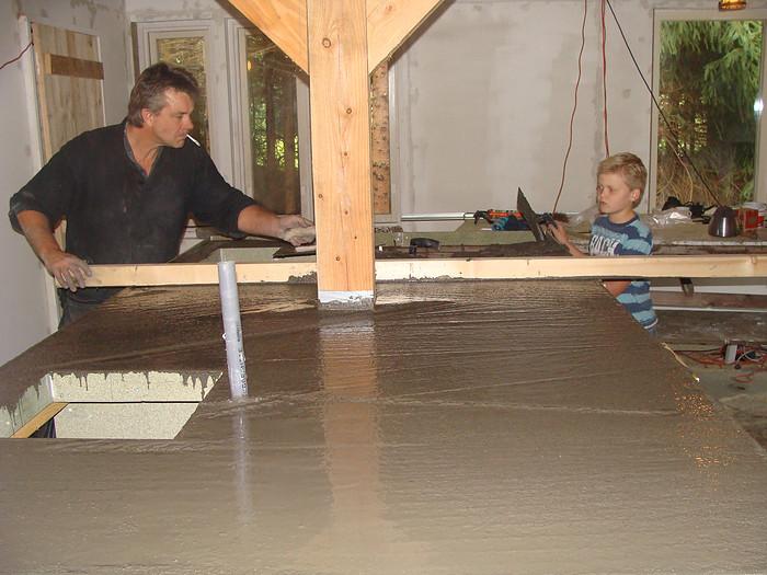 betonnen blad