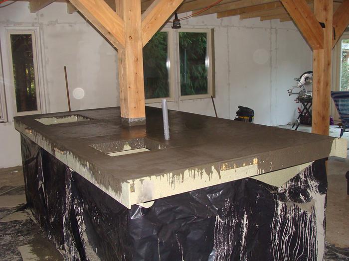 Keuken Met Betonblad : Esther over hun zelfgemaakte betonnen blad in de keuken