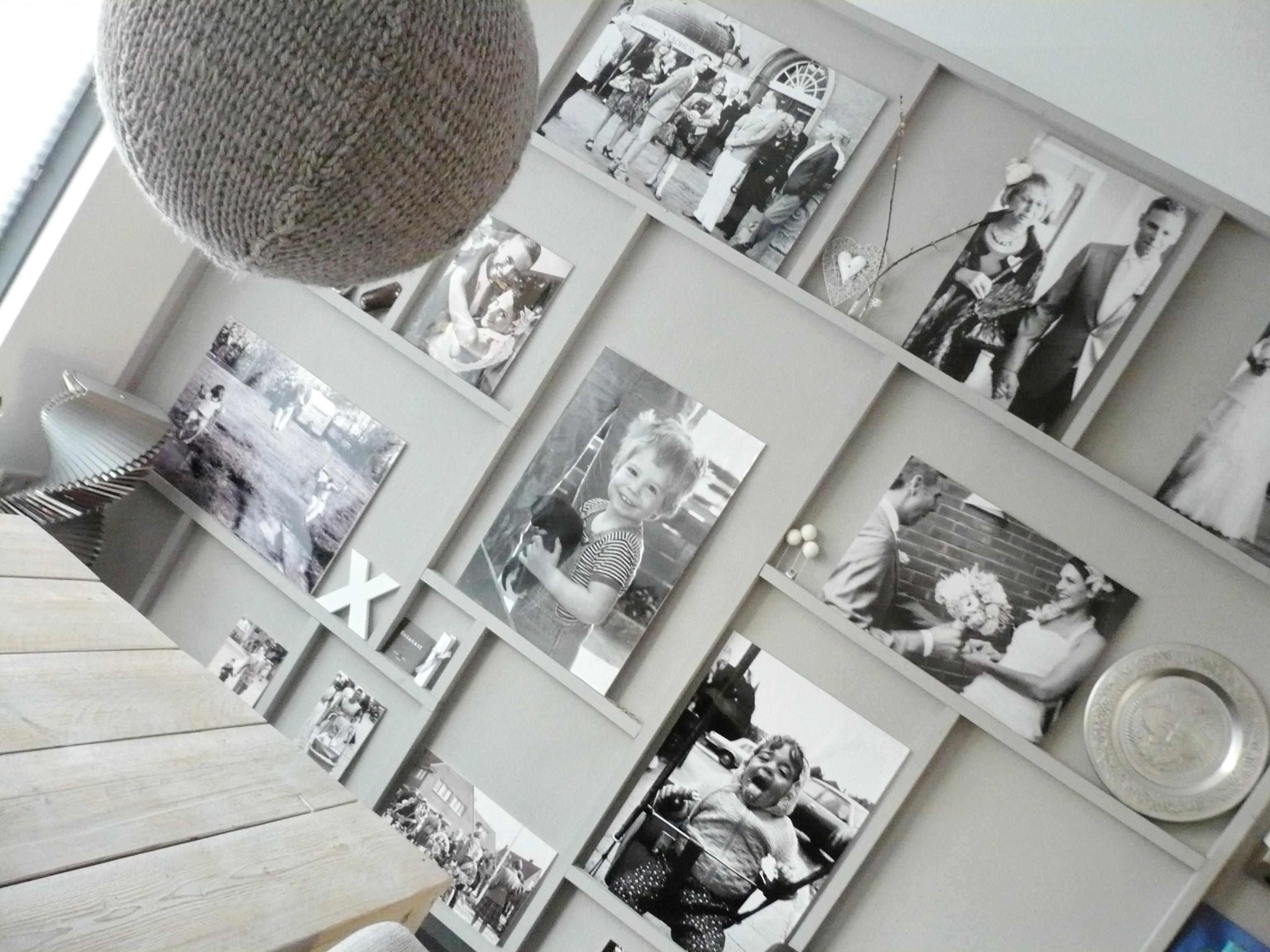 fotowand in woonkamer