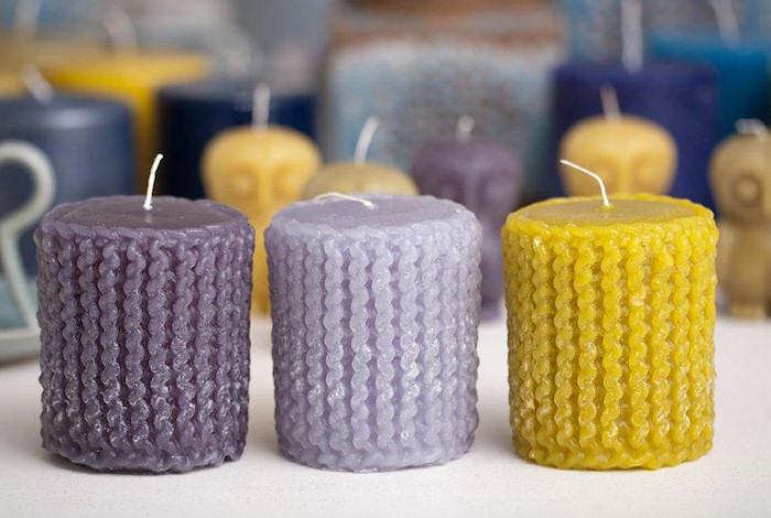 gebreide kaarsen t wassenhuys