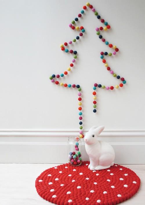 gekleurde kerstslinger