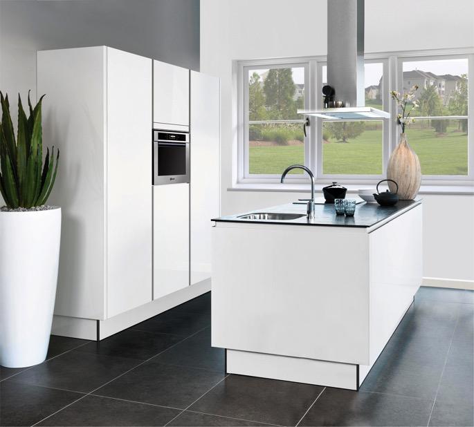 Chique strak en modern greeploze keukens inspiratie voor je interieur - Keuken voor klein gebied ...