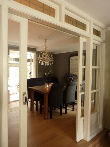 eetkamer met en suite deuren