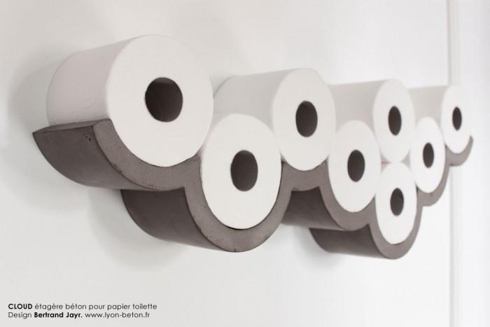 Toiletrolhouder van beton inspiratie voor je interieur - Decoratie van toiletten ...