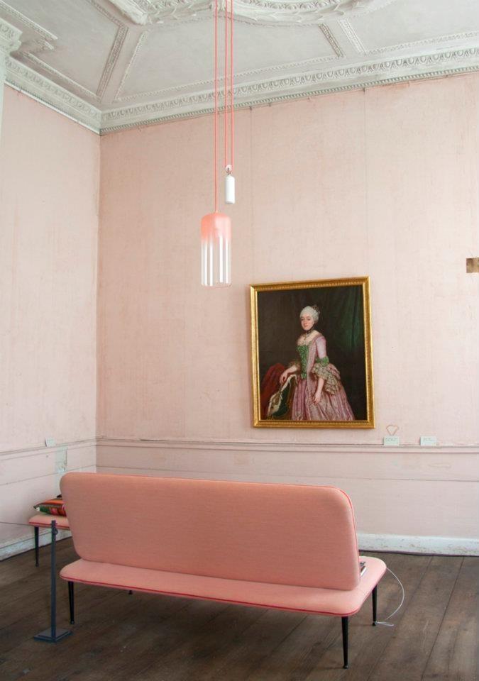 Glazen lamp met Dip Dye look - Inspiratie voor je interieur