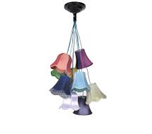 granny hanglamp met verschillende kapjes