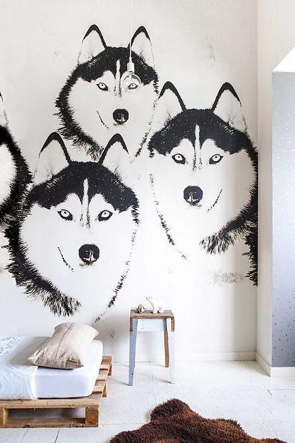 Natuurlijk, stoere meiden kunnen deze print ook best op hun kamer ...