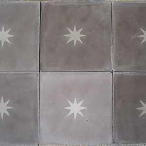 betontegel met ster